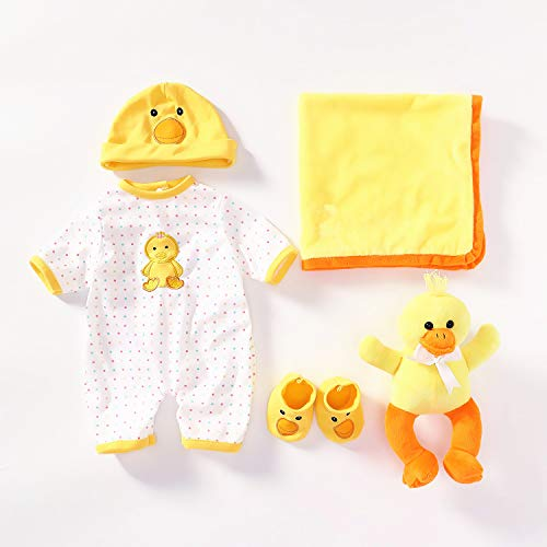 NPKDOLLS Reborn Baby Dolls Girls Clothes 55 cm for 20-23 inch Newborn Reborn Dolls Boy Clothing Outfit 5 Pieces Sets