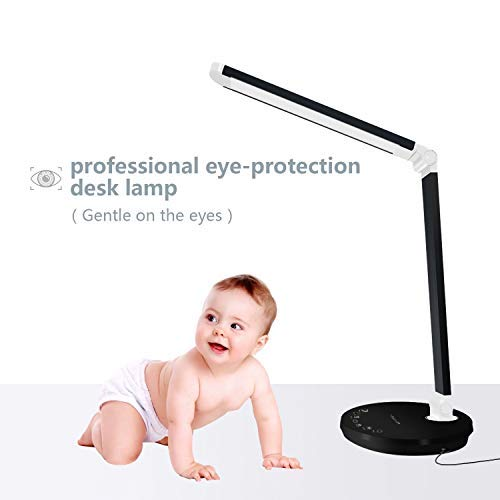 6bdf69dceda09a Lámpara Escritorio LED, EWANTIC L1 Lámparas de Mesa USB Regulable, Control  Táctil, 4 Modos de Color, Función de Memoria, Protege a ojos, ...