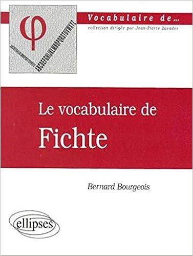Le vocabulaire de Fichte pdf, epub ebook
