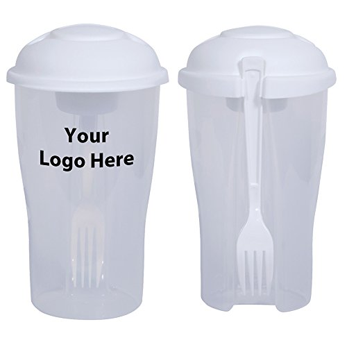 Salad To Go / Salad Shaker - 50 Quantity - $4.55 Each - PROMOTIONAL PRODUCT / BULK / BRANDED with YOUR LOGO / CUSTOMIZED by Sunrise Identity