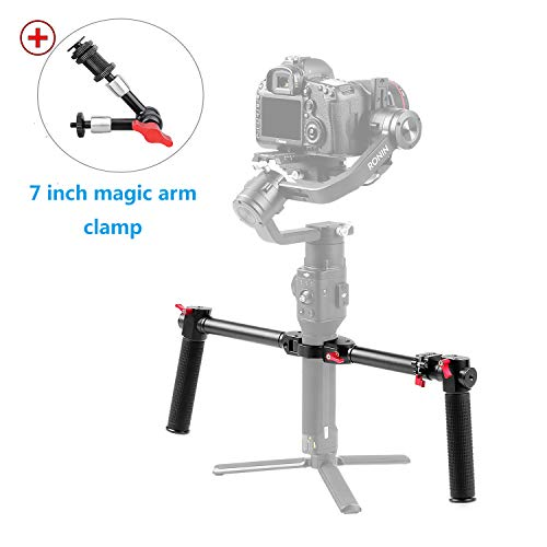Dazzne Ronin S Dual Handle Grip with 7 Magic Arm Roin SC Extended Handheld Kit Applicable for Ronin S &MOZA Air 2 Gimbal Stabilizer