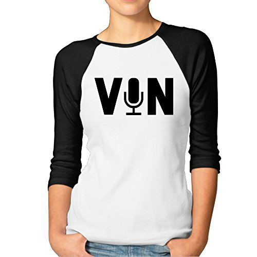 Women Raglan Shirts Original Vin Scully Microphone