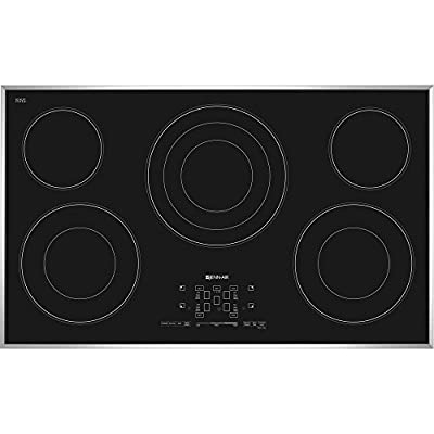 """Jenn-Air 36"""" inch JEC4536BS Stainless Electric Radiant Cooktop with Black Glass-Touch Electronic Controls"""