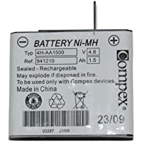 Compex Battery Pack for Edge, Performance, Sport Elite Muscle Stimulators - Rechargable, Ni-MH, 4.8 Volts
