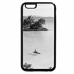 iPhone 6S Case, iPhone 6 Case (Black & White) - Clear Blue Waters South Pacific