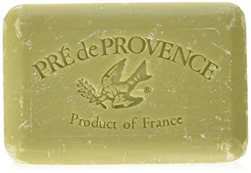 Pre de Provence Shea Butter Extra Large Enriched Artisanal French Soap Bar (350 g) - Olive Oil and Lavender Lemongrass Moisturizing Bar Soap