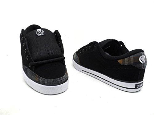 Adrian Lopez Skate Shoes (C1RCA Men's Lopez 50 Skate Shoe,Black/Black Oak Plaid,11 M)