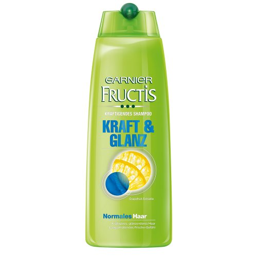 Garnier Fructis kräftigendes Shampoo Kraft und Glanz / Haarshampoo für normales Haar (mit Grapefruit-Extrakt), 6er Pack - 250 ml