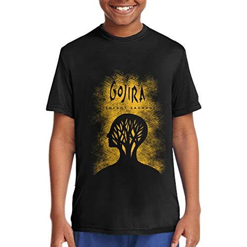 JohnANunez Gojira L'Enfant Sauvage Boys' T-Shirt Youth Fashion Crewneck T Shirt Black