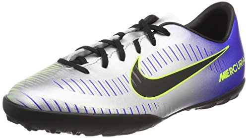 Nike MercurialX Victory 6 Neymar Jr Turf Soccer Shoes-Racer Blue Size: 4Y (Indoor Soccer Turf)