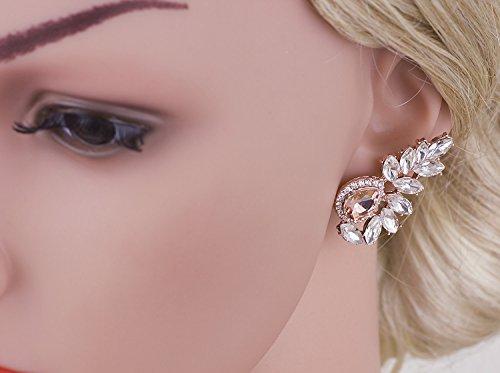 Vijiv Women's 1920s Gatsby Earrings Dangle Deco Jewelry for Party Wedding Prom Dresses by Vijiv (Image #4)
