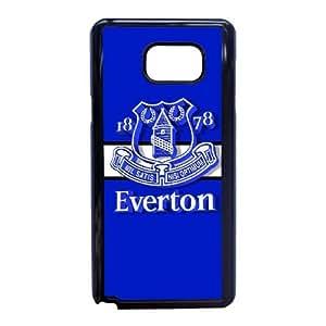Everton Logo G5L84Y8PZ funda Samsung Galaxy Note 5 caso funda QOHBME negro