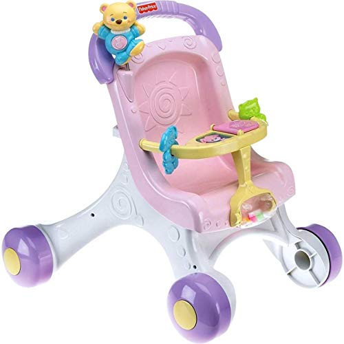41kYwOefrhL - Fisher-Price Brilliant Basics Stroll-Along Walker
