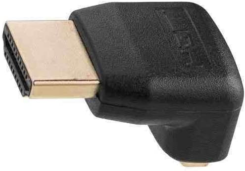 Fast 1.4 Version High Speed With Ethernet Gold Connectors Right Angle Gold Plated Connector Deet/® 90 Degree HDMI Bend