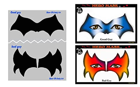 Face Painting Stencil - StencilEyes Hero Mask - Hero/Villain Face Mask