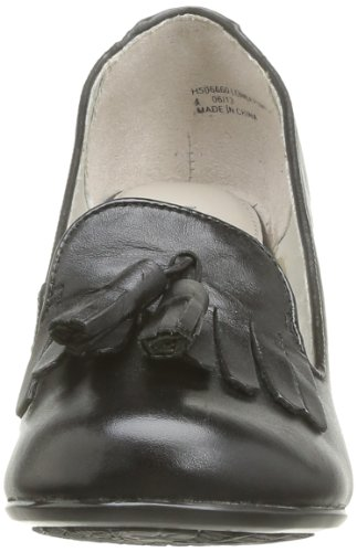 Hush Puppies Womens Lonna Pump Kiltie Black Leather