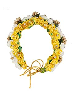 Amazon.com: Anuradha Art Yellow-White Colour Adorable