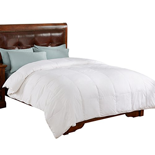 Price comparison product image All Season White Down Comforter/Duvet Insert, 100% Cotton 600 Fill Power, White, Full/Queen Size