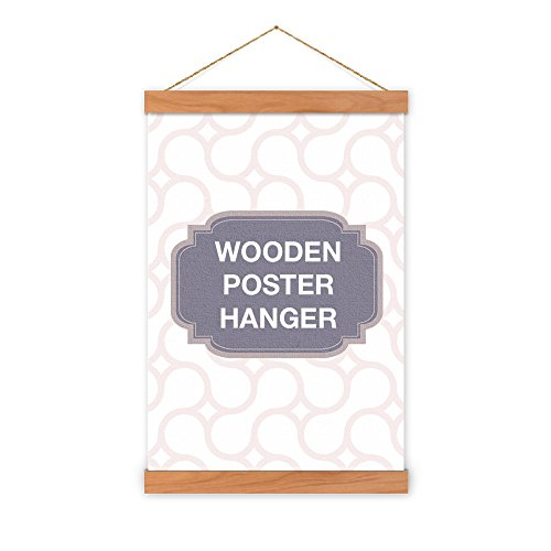 Non-Standard Size Cherry Wooden Poster Hanger - magnet self assembly (30 inch (76.20cm))