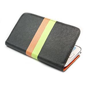 Viesrod ivencase Rainbow Wallet Stand Leather Case Cover for Samsung Galaxy Note II 2 N7100 -1 + One phone sticker + One...