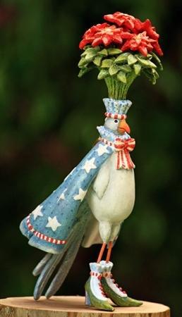 Krinkles Poinsettia - Patience Brewster Krinkles Poinsettia Dove Ornament 09-01231