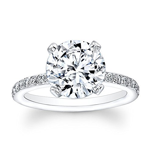 Real 2.30Ct Round Cut Solitaire 14K White Gold Moissanite Wedding...