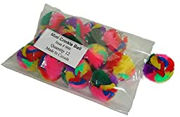 Cancor Innovations Mini Crinkle Ball Cat Toy (12 Pack)