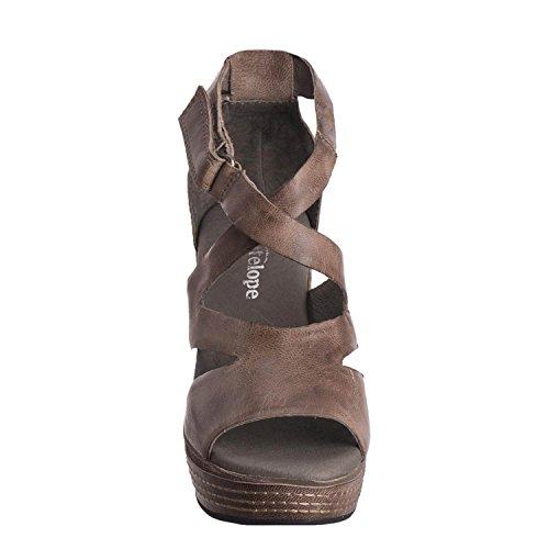 Wedge Leather Grey Antelope Women's 648 Hi Strap Cut wEY4q