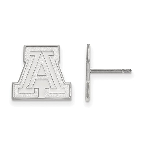10k White Gold LogoArt Official Licensed Collegiate University of Arizona (UA) Small Post Earrings by LogoArt