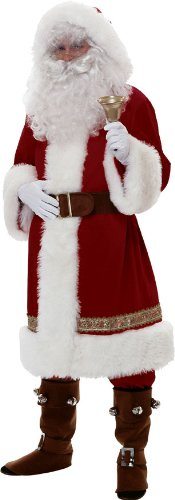 Rubie's Costume Super Deluxe Old-time Santa Suit, Red/White, Standard Costume