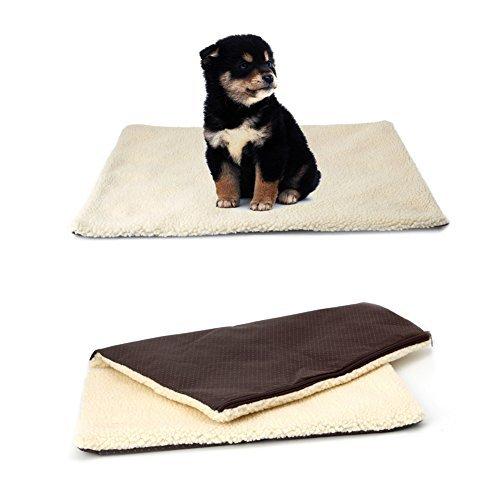 Delight eShop Super Soft Self Heating Cat Dog Bed Cushion Pet Thermal Warm Fleece Rug Mattress ()