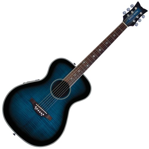 Daisy Rock Pixie Acoustic-Electric Guitar, Blueberry Burst ()