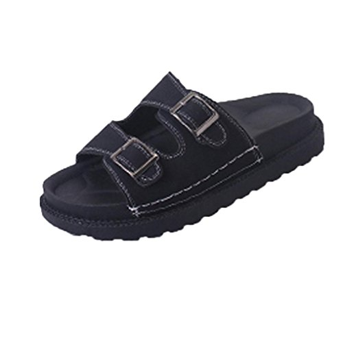 Sandalias de vestir, Ouneed ® Bio zapatos de la vida mujeres mulas zapatillas sandalias gruesas zapatos blandos Negro