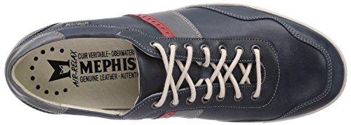 Mephisto URBAN STEVE 2645/2652/2601 NAVY - zapatilla deportiva de cuero hombre azul - azul (marino)