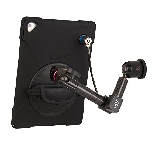 The Joy Factory MagConnect Carbon Fiber Wall/Counter Mount aXtion Bold MPS Water-Resistant Rugged Security Cable Lock Case iPad Pro 9.7'' & iPad Air 2, Built-In Screen Protector, Hand Strap (MWA504MPS) by The Joy Factory