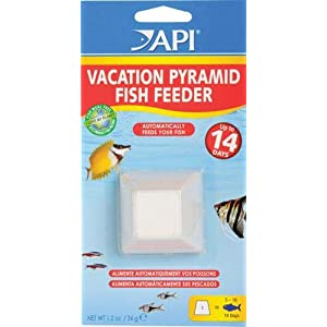 API VACATION PYRAMID FISH FEEDER 14-Day 1.2-Ounce Automatic Fish Feeder 29