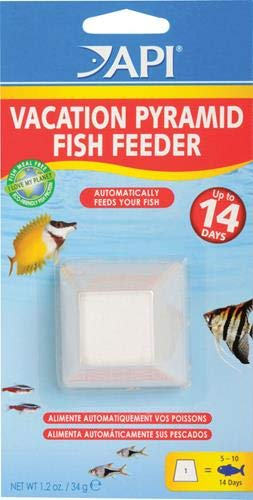 - API VACATION PYRAMID FISH FEEDER 14-Day 1.2-Ounce Automatic Fish Feeder