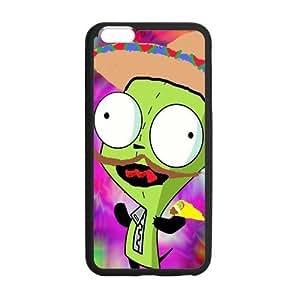 ROBIN YAM Cute Cartoon Alien Invader Zim Gir Hard Flexible Slim Rubber Gel Cover Case for iphone 6 4.7