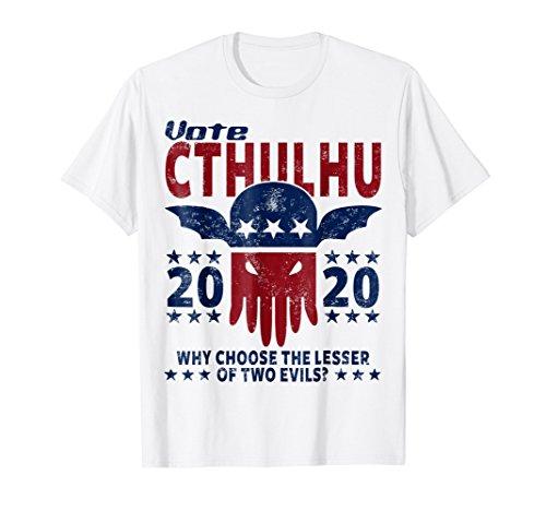 VOTE CTHULHU 2020 SHIRT, LOVECRAFT T SHIRT, CTHULHU TSHIRT