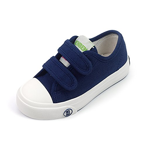 Navy Canvas Sneakers (BENHERO Fashion Sneakers Kids Classic Casual Velcro Canvas Shoes For Boys Girls (Toddler/Little Kid) (11 M US Little Kid, 880 Navy))