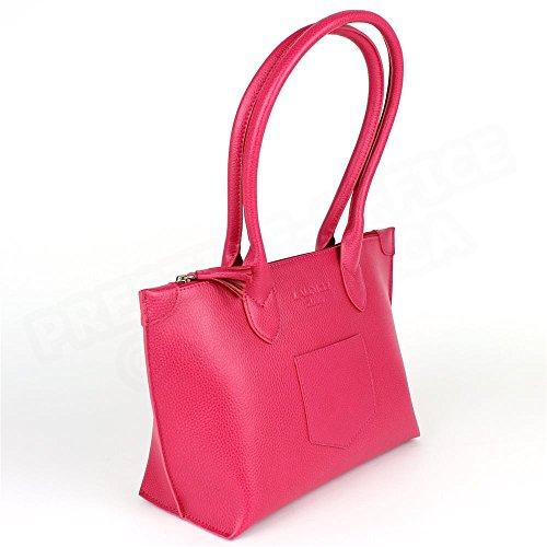 Sac Cabas Shopping Marie cuir Rose fuchsia Beaubourg