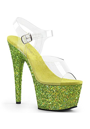 708lg Multi Lime Ouvert Pleaser Clr Femme Adore Bout Glitter 5wv0vFx