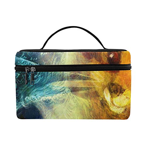 The Phoenix Bird And Fox Collage Pattern Lunch Box Tote Bag Lunch Holder Insulated Lunch Cooler Bag For Women/men/picnic/boating/beach/fishing/school/work