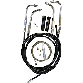 Ultra Classic FLHTCU//I w//Cruise Stainless Braided 2 Throttle Cable Set for 2002-2007 Harley-Davidson Electra Glide FLHTCI HC-66-0385-0387-EGU