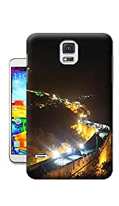 Day View of the Great Wall At Night TPU Phone Case for Samsung Galary S5