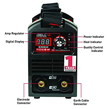 iBELL 200-89 Inverter ARC Compact Welding Machine (IGBT) 200A with Hot Start and Anti-Stick Functions - 1 Year Warranty 11