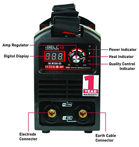 iBELL 200-89 Inverter ARC Compact Welding Machine (IGBT) 200A with Hot Start and Anti-Stick Functions - 1 Year Warranty 5