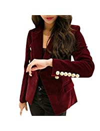 Women's Formal Jacket Velvet Blazers for Women Slim fit Office Tops for Women