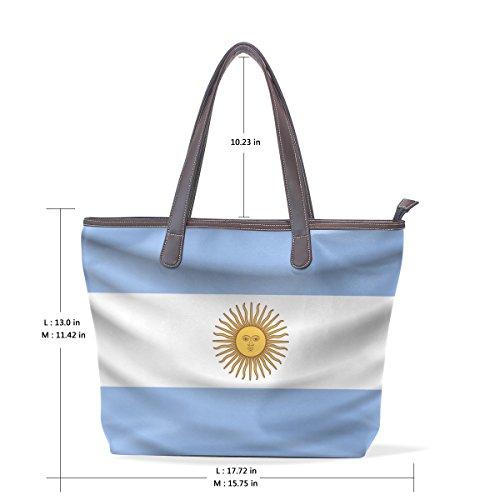 Argentina Flag Women's Fashion Large Tote Shoulder Bag Ladies Handbag