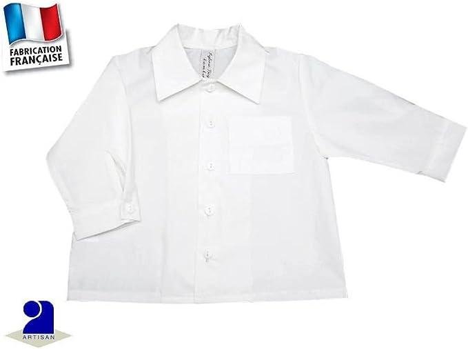 Ropa bebé: camisa blanca para niño, algodón 3 meses AU 18 meses blanco blanco Talla:67 cm 6 mois: Amazon.es: Bebé